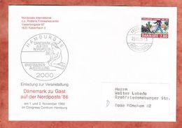 Beleg Nordposta Hamburg, Koenigliche Leibgarde, Kobenhavn Nach Muenchen 1986 (93037) - Cartas