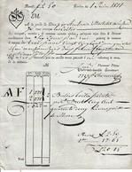 1811- GENÈVE - Roulage De 2 Balles De TOILES PEINTES Pour MM. AUDRA Frères De LYON - Documents Historiques