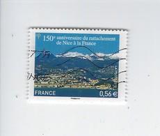150ème Anniversaire Du Rattachement De Nice à La France 4457 Oblitéré 2010 - Francia