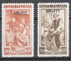 Trieste A 1950 Lavoro100/200  Sass.106/07 **/MNH VF/F - Mint/hinged