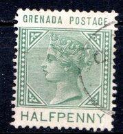 GRENADE - (Colonie Britannique) - 1883 - N° 13 - 1/2 P. Vert - (Victoria) - Central America