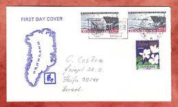 Brief, Fischerei, Vignette Julen Alpeviol, MS Struer, Nach Haifa 1984 (93040) - Cartas