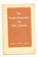 The Peoples Dispensary For Sick Animals - SPA Anglaise - +/- 1955 - 38e Report  (gr) - Animaux