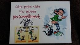 CPM GASTON LAGAFFE FRANQUIN FETE DU TIMBRE BEZIERS 02 2001 TIMBRES MAXIMUM - Comics
