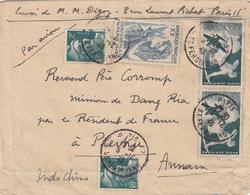 SEINE ENV 1946 PARIS ST FERDINAND SUR LETTRE AVION => PLEKU ANNAM INDOCHINE ( BONNE DESTINATION ) - Marcophilie (Lettres)
