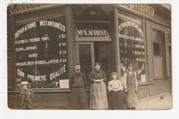 CARTE PHOTO - AMIENS - CORDONNERIE AMERICAINE - 33 RUE SAINT JACQUES - M.LAURENT - 80 - Amiens