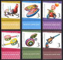 Thailand Thailande 2735/40 Jouets, Coq, Lapin, Moto, Toupie, Musique - Ohne Zuordnung