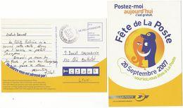 CP EN FRANCHISE QUE DANS RHONE ET SEULEMENT LE 20/9/07 - Marcophilie (Lettres)
