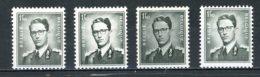 BE   924 - 924a - 924b - 924c - 924P3   XX   --  Les 3 Nuances Papier Terne + Phosphore... - 1953-1972 Lunettes