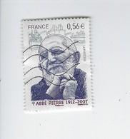 Personnalité Abbé Pierre 4435 Oblitéré 2010 - Francia