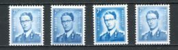 BE   1069B - 1069Ba + P3 + P3a   XX   --   Toutes Les Nuances Et Papiers..  --  Impeccables. - 1953-1972 Lunettes