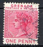 GRENADE - (Colonie Britannique) - 1887 - N° 23 - 1 P. Rose - (Victoria) - (Lègende GRENADE-POSTAGE & REVENUE) - Central America