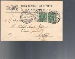 Curia Generale Arcivescovile Camerino 1915 COD.bu.357 - 1900-44 Victor Emmanuel III