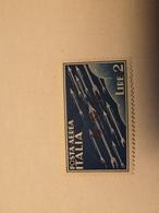 ITALIA REPUBBLICA SOCIALE RSI 1944 GNR BRESCIA II TIPO POSTA AEREA AIR MAIL LIRE 2 MNH Neuf. - Nuevos