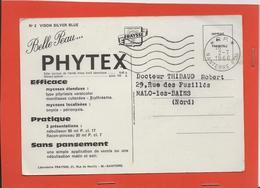M46 CARTE POSTALE PUBLICITAIRE PORT PAYER LABORATOIRE PHARMACEUTIQUE PHYTEX VERSO VISON - Marcophilie (Lettres)