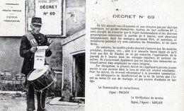 63  ST GERVAIS D'AUVERGNE   GARDE CHAMPETRE TAMBOUR  ( PLI ANGLE INF GAUCHE) - Saint Gervais D'Auvergne