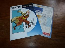 Dépliant Hergé Tintin D'or Et D'argent Avec Le Bon De Commande - Collection De Pièces De Monnaie - Non Classés