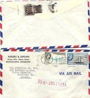 BARBADOS  - COVER FEB 11 1957 TO CANADA   / 2 - Barbados (...-1966)