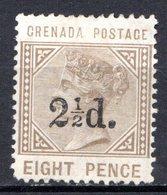 GRENADE - (Colonie Britannique) - 1890 - N° 28 - 2 1/2 D. S.8 P. Bistre-olive - (Victoria) - Central America
