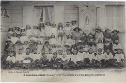 76  Le Caule Sainte Beuve  Les Enfants De La Fete Dieu 22 Juin 1924 - Altri Comuni