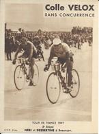 Tour De France 1947  5ieme étape   Neri Et Dessertine A Besançon - Radsport