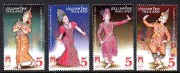 Thailand Thailande 2891/94 Danses Traditionnelles, Théâtre, Costume - Sin Clasificación