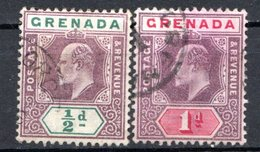 GRENADE - (Colonie Britannique) - 1902 - N° 38 Et 39 - (Lot De 2 Valeurs Différentes) - (Edouard VII) - Central America