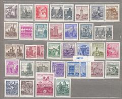 AUSTRIA / OSTERREICH 1957 / 1963 Definitives Gelbes Papier Yellow Paper MNH Postfrisch (**) #18555 - 1945-.... 2ème République