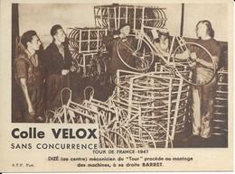 Tour De France 1947  Dizé Mécanicien Du Tour Procéde - Radsport