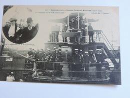 NANTES - Grande Semaine Maritime 1908 Musique De La Marseillaise à Bord Du Cassini - Mr Mlle Thomson A0066 - Nantes