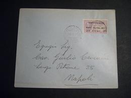 1917    BUSTA AFFRANCATA  POSTA AEREA CON IDROVOLANTE   NAPOLI - PALERMO - NAPOLI - Andere