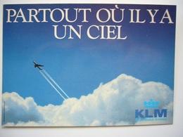 Avion / Airplane / KLM / Partout Où Il Y A Un Ciel / Advertising Card - 1946-....: Ere Moderne
