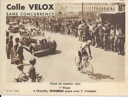 Tour De France 1947  Premiére étape   A Chantilly,wooren Passe Avec 2 Secomdes D A - Radsport