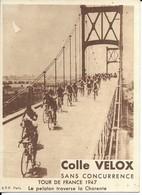 Tour De France 1947  Le Peloton Traverse La Charente   Voir Photo - Radsport