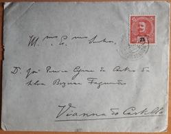 Portugal - COVER - Stamp: 25 Reis D. Manuel II (1910) Cancel: Bragança + Viana Do Castelo - BANCO DE PORTUGAL W/ Letter - 1910 : D.Manuel II