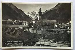 COGNE - LA CHIESA E I GHIACCIAI DEL GRAN PARADISO -VIAGGIATA  FP - Aosta