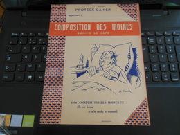 COMPOSITION DES MOINES BONIFIE LE CAFé ELLE EST BONNE ET M'A RENDU LE SOMMEIL ILLUSTRATION M.HEINTZ - Protège-cahiers