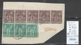 France -Fragment - Affranchissement Mixte - France Et Levant - Type Sage - JAFFA -1891 - Levant (1885-1946)