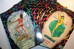 CPM Lot De 16 Cartes  Série Complète Pin Up Nues Nude  Illustrateur BERG Signes Du Zodiaque Etrusque Minéraux - Andere Illustrators