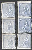 Falso Postal De Epoca Edilfi 137f  Graus Tipo Unico 50 C En Banda De 3 , Pareja Y Solo - 1873 1. Republik