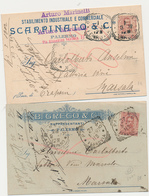 1902 PALERMO 2 CARTOLINE PUBBLICITARIE - Storia Postale
