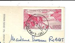 Cachet GRESSONEY ST. JEAN AOSTE 1963 Sur Carte Postale - 1961-70: Marcofilie
