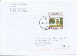 Latvia Cover Sent To Denmark Birini 15-2-2001 Single Franked EUROPA CEPT Stamp 1999 - Lettonie