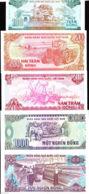 Collection Of 6 Different Vietnam Viet Nam UNC Banknotes / Billet 1987 - 1991 - Vietnam
