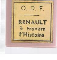 RENAULT à Travers L'histoire Film 35 Mm Diffusé O.D.F. (Office De Documentation Par Le Film) Des Années 1965 - Pellicole Cinematografiche: 35mm-16mm-9,5+8+S8mm