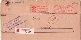 SPORT LISBOA E BENFICA   , Mechanical Meter , S. Domingos Benfica  1987  , EMA  , Registration Label Restauradores - Marcofilia