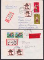 Germany Lot Briefe Ettlingen, Bad Teinach-Zavelstein Mannheim Herten, Dabei Lp, R- Bzw. Wert-Bf, Vignette Steinbock AOK - Lettere
