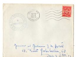 A   1958 Poste FM Navale Cachet Base Des Sous Marins à Lorient - Postmark Collection (Covers)