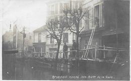 ARGENTEUIL -  CARTE- PHOTO -  ARGENTEUIL INONDE - 1910 -  AVENUE DE LA GARE -  MERCERIE-  DELALANDE ENTREPRISE - Argenteuil
