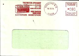 Lettre  EMA  Secap NA 1974 Thomson Brand Radio Transistor 03 Moulins C18/25 - Poststempel (Briefe)